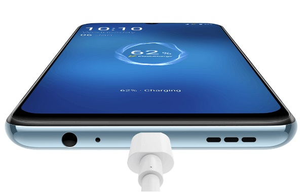 vivo V20 SE fast charging feature