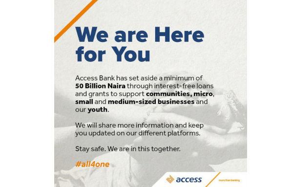 Access Bank Announces N50 Billion Interest Free Loans
