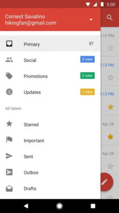 Gmail Go Interface