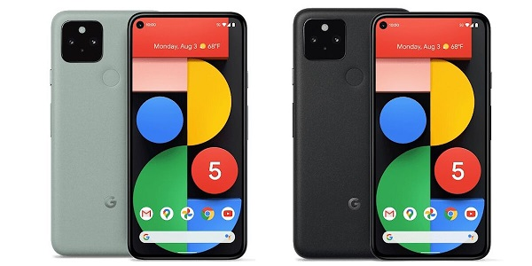 Google Pixel 5 in colors