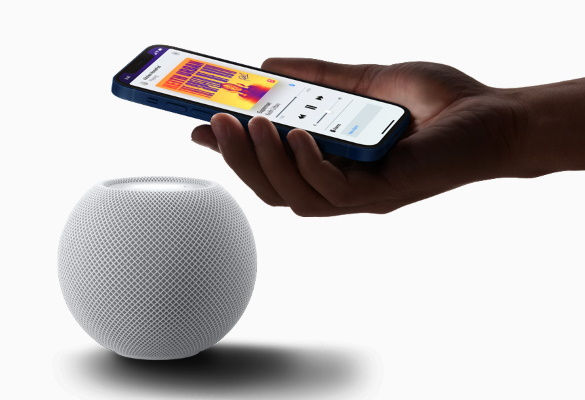 HomePod Mini Smart Speaker working with iPhone