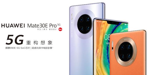 Huawei Mate 30E Pro 5G launched