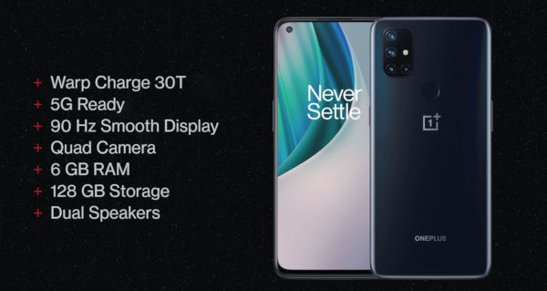 OnePlus Nord N10 5G Specs