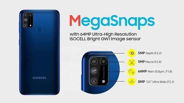 Samsung Galaxy M31 Prime camera details