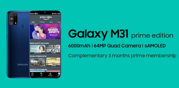 Samsung Galaxy M31 Prime launched