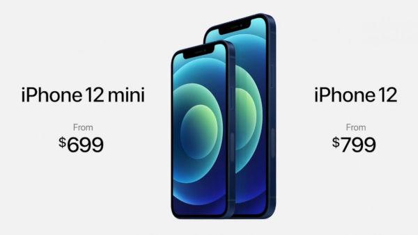 iPhone 12 and iPhone 12 mini price