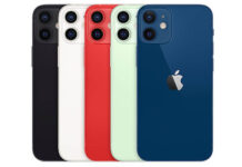 iPhone 12 mini in colors