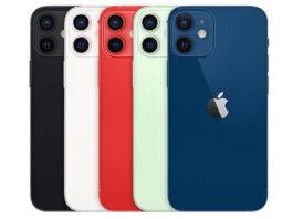 iPhone 12 mini in colors