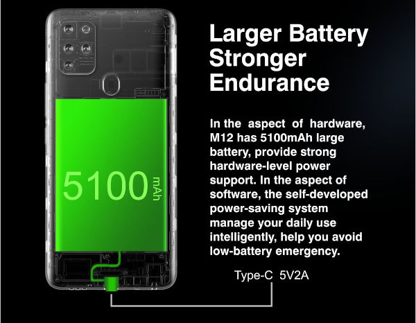 Gionee M12 battery