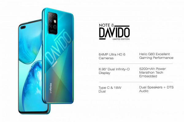 Infinix Note 8 Davido Limited Edition launched 1