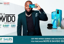 Infinix Note 8 Davido Limited Edition launched