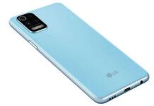 LG K62+ in sky blue