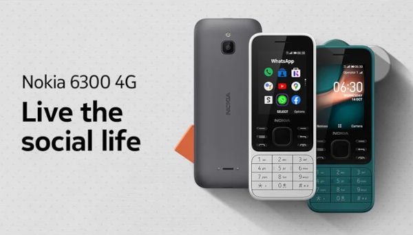 Nokia 6300 4G launched