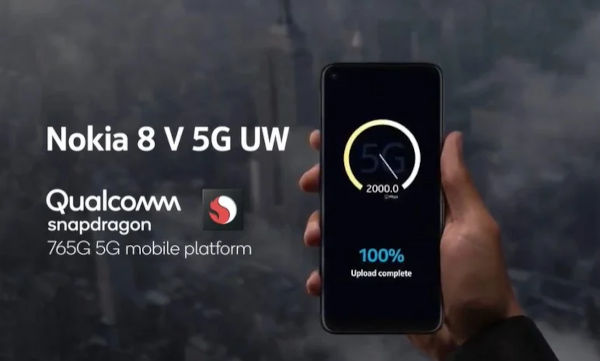 Nokia 8 V 5G UW powered by SD 765G