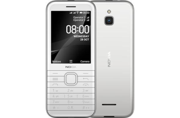 Nokia 8000 4G in Opal White