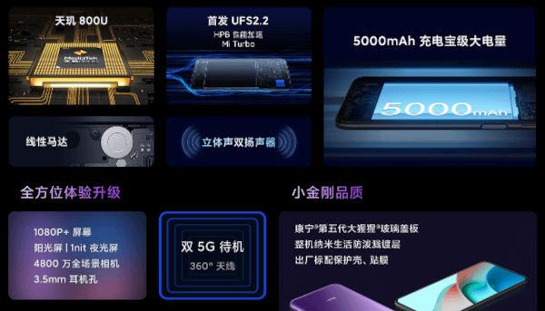 Redmi Note 9 5G specs