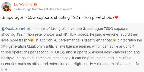 Redmi Note 9 Pro 5G Specs revealed 1