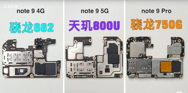Redmi Note 9 series Dissembled 1