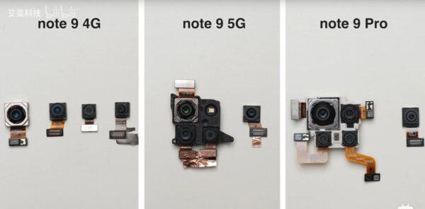 Redmi Note 9 series Dissembled 2