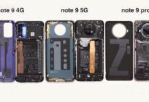 Redmi Note 9 series Dissembled