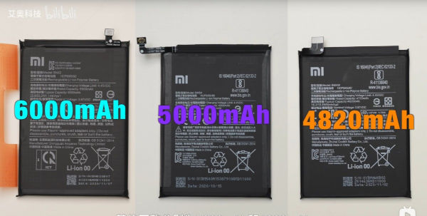Redmi Note 9 series Dissembled 3