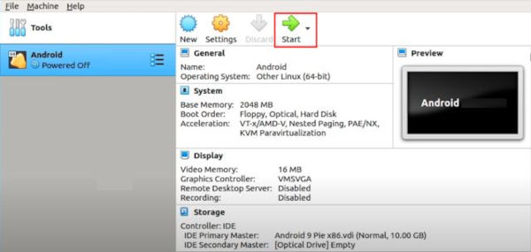 Run Android on Linux Using Virtual Machine 15