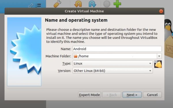 Run Android on Linux Using Virtual Machine 3