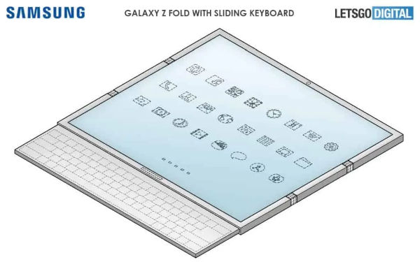SAMSUNG GALAXY Z FOLD3 MAY USE TWO HINGES AND A SLIDING KEYBOARD
