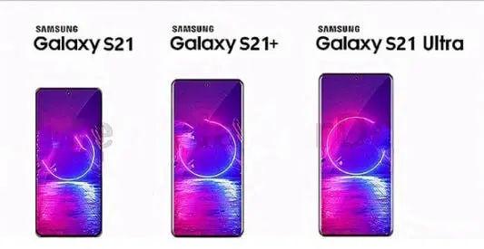 Samsung Galaxy S21 series Renders
