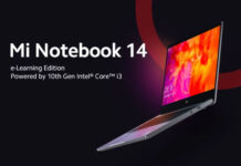 Xiaomi Mi Notebook 14 e Learning Edition launched