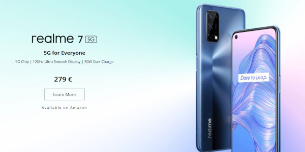 realme 7 5G specs and Price