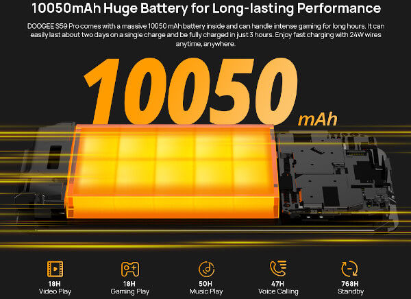 DOOGEE S59 Pro battery