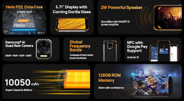DOOGEE S59 Pro specs and features