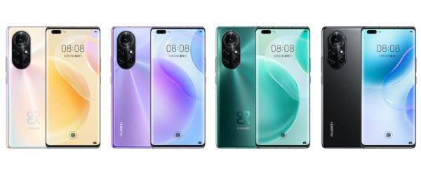Huawei nova 8 Pro in colors