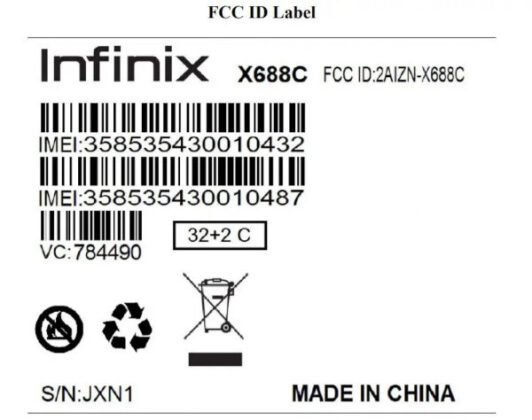 Infinix Hot 10 Play Appears On FCC 2