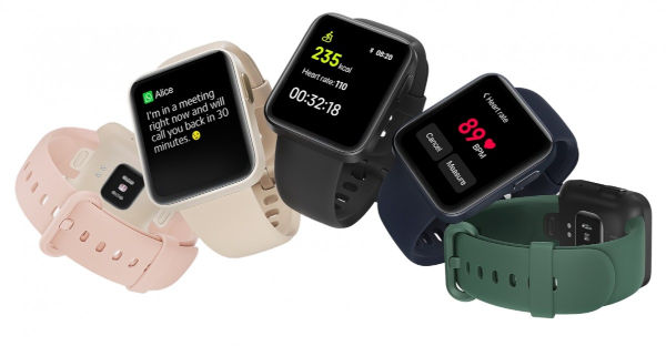 Mi Watch Lite with Straps in colors
