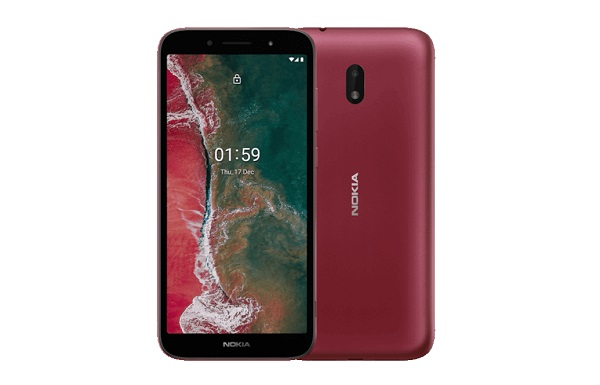 Nokia C1 Plus in red