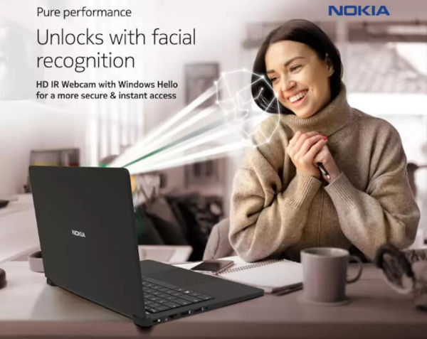 Nokia PureBook X14 with Windows Hello Facial Authentication