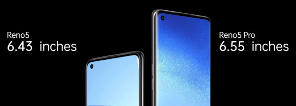 Oppo Reno5 5G and Reno5 Pro 5G display