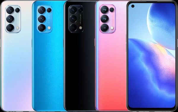 Oppo Reno5 Pro 5G in colors