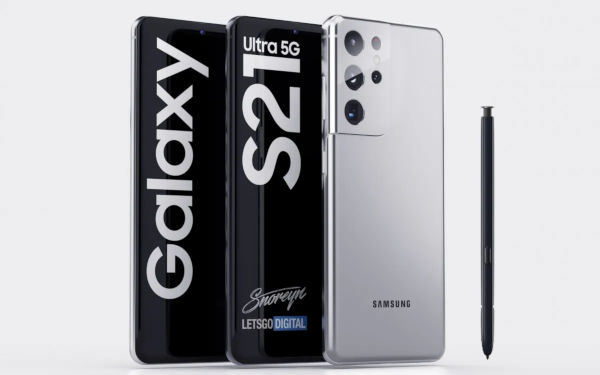 Samsung Galaxy S21 Ultra 5G supports S Pen