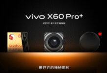 vivo X60 Pro+ teased