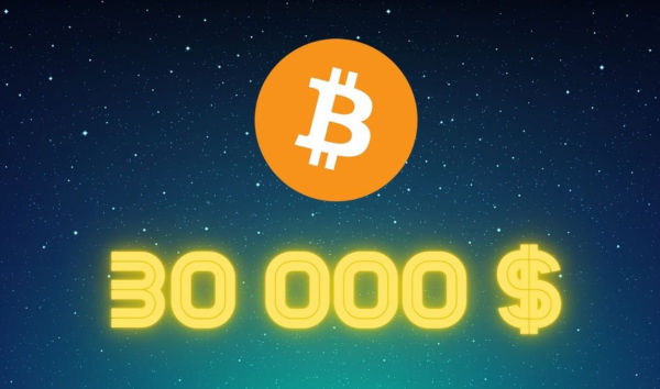 Bitcoin cross 30000 dollar mark