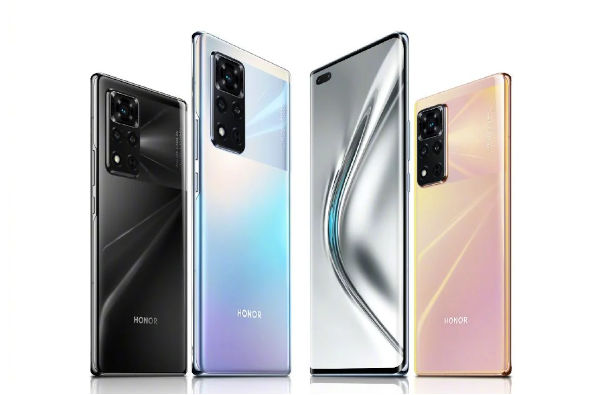 Honor V40 5G in colors