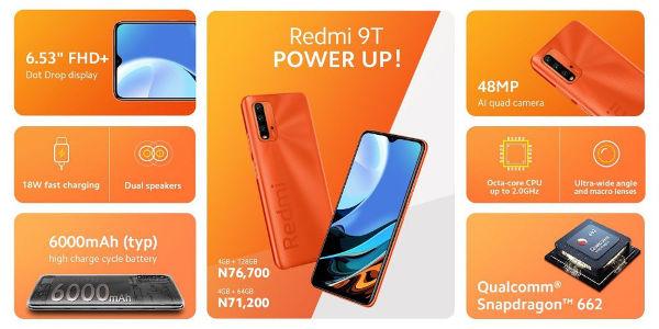 Redmi 9T Price in Nigeria