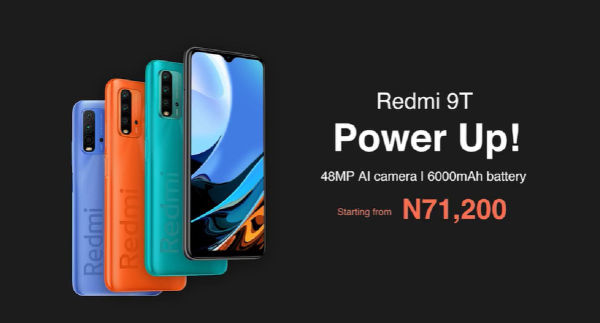 Redmi 9T launched in Nigeria