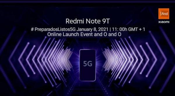 Redmi Note 9T Launch Date