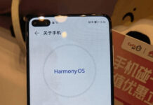 Smartphone running HarmonyOS