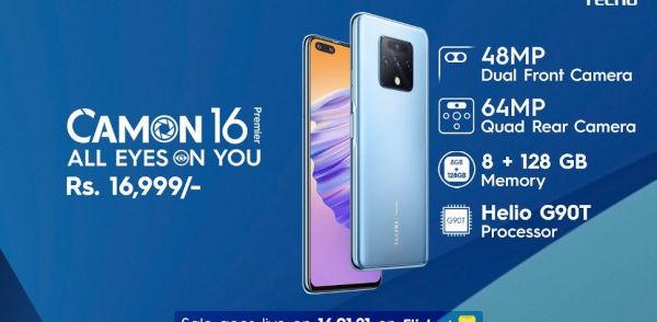 Tecno Camon 16 Premier launched in India