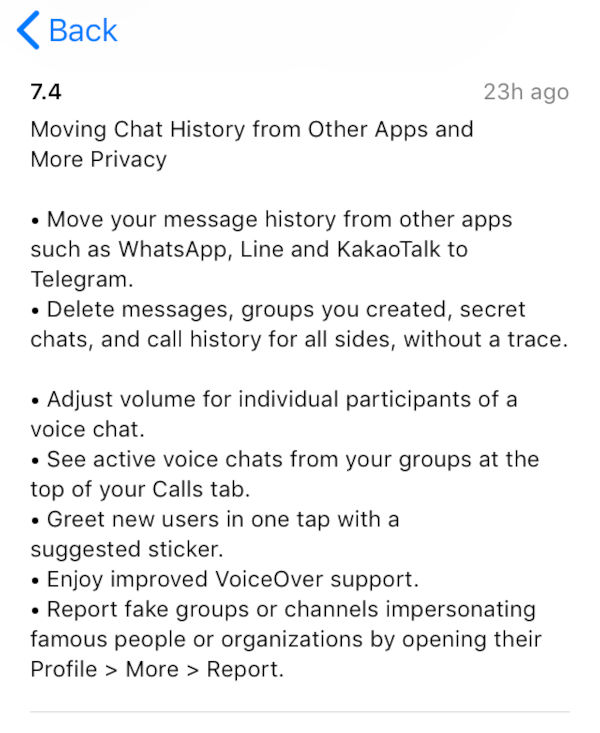 Telegram Now Allows You To Import WhatsApp Chats